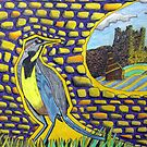 271 - MEADOWLARK CASTLE - DAVE EDWARDS - COLOURED PENCILS & FINELINERS - 2009 by BLYTHART