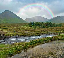 The Cullins from Sligachan Hotel by Fraser Ross