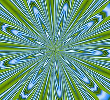 Star Burst in Lime and Blue by taiche