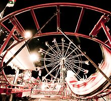 Bullseye - Street Carnival Lights in BC by Chinua Ford