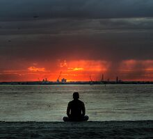 Yoga at sunset - HDR by Dean Woodyatt