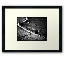 The Curve in the Road Framed Print