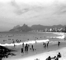 Ipanema Beach Goers by Guilherme Pontes