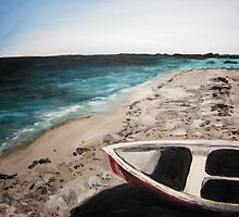 Maine Beach. 16 x 20. Acrylic Painting. by csoccio100