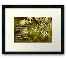 Dillweed Card Framed Print
