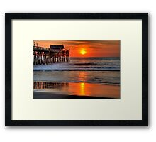 Cocoa Beach Pier at Sunrise Framed Print
