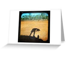 Attending to my Shadow Greeting Card