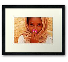 Flower of Peace Framed Print