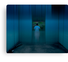 urb reverberation #8 (The Blue Room) Canvas Print
