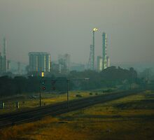 Shell Oil Refinery in Smoke by AusDisciple