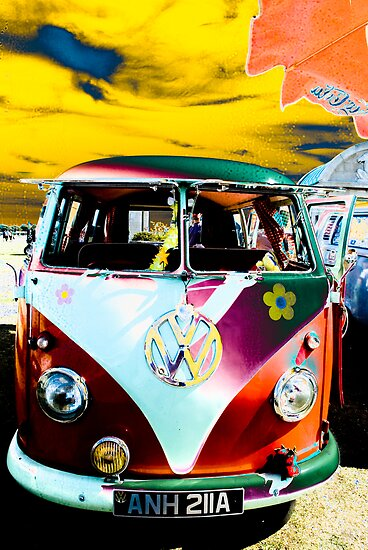 Happy hippy van by garry stokoe