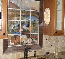 Mural painted on tiles by viveca