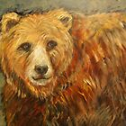 Bear Face -- Grizzly Bear Portrait by carolsuzanne