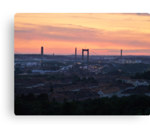 Sunset over the Gothenburg Harbour Canvas Print