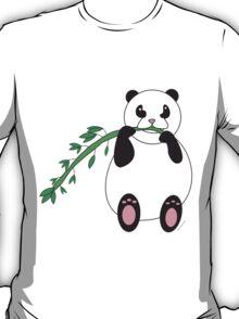 Panda Bear Eating Bamboo  T-Shirt