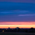 Sunset Over Harlow by Nigel Bangert