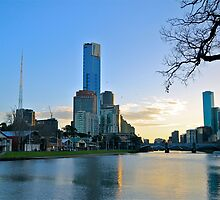 Melbourne from the Banks of the Yarra by Richard  Cubitt