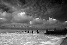 Daybreak by the Sea BW by Andy Freer