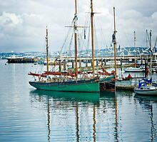 Yachts at Brixham by Catherine Hamilton-Veal  ©