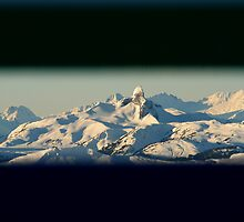 Mountains through a window by chwells