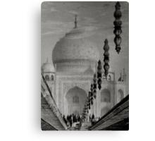 Reflection of Taj Mahal,Agra,India. Canvas Print