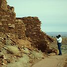 My Husband at  Chaco Canyon by Susan Russell