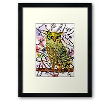Yellow Owl Framed Print