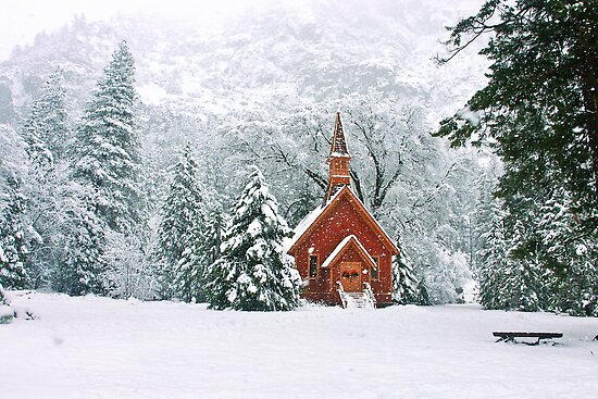 Yosemite Valley Church by Donn Hoyer