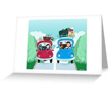 Road Meeting Greeting Card