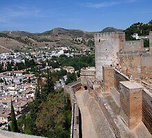 The Alhambra, Granada, Spain by Linda More