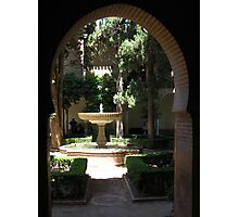 Palace fountain  within the Alhambra, Granada, Spain Photographic Print