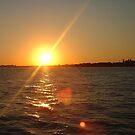 Sunset on Ellis Island by inglesina