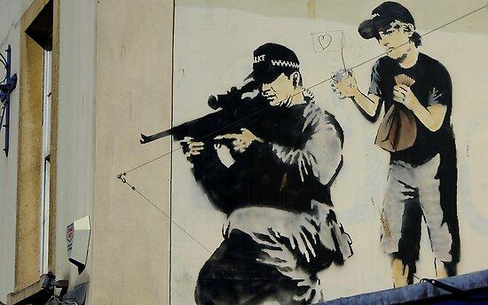 Banksy Sniper by Kiwikiwi