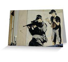 Banksy Sniper Greeting Card