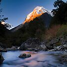 Mount Tutoko, Fiordland National Park, New Zealand by Paul Mercer