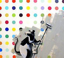 Banksy vs Hirst by Kiwikiwi