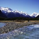 Eglinton River, Fiordland National Park, New Zealand by Paul Mercer