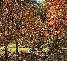 Fall landscape - pointilism by bubblenjb