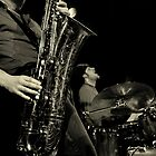 Ken Vandermark and Tim Daisy by Juan-Carlos Hernandez