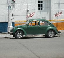 Green Punch Buggy by Vanessa Nebenfuhr