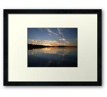 Painted Sky Again Framed Print
