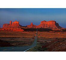 Monument Valley. Road Shot at Sunrise. Arizona. USA Photographic Print