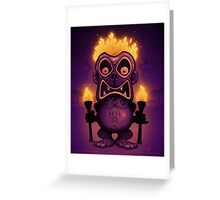 Tiki Munkee Greeting Card