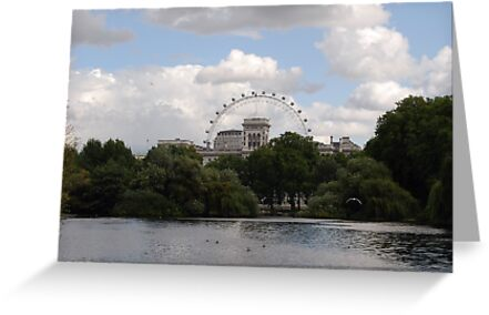The London Eye From St James' Park London by inglesina