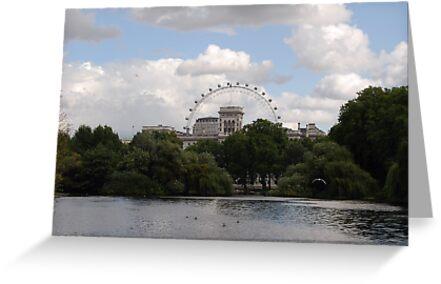 The London Eye From St James' Park London by inglesina