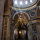 Inspirational sunlight shaft at St. Peter's Basilica, Vatican by InterfaceImages