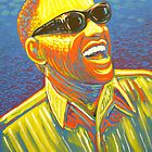 Ray Charles painting by James Cattlett by CattlettArt