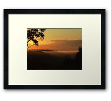 "'Late Winters Morn"" Framed Print"