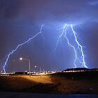 Lightning over North Phoenix by NikonLarry