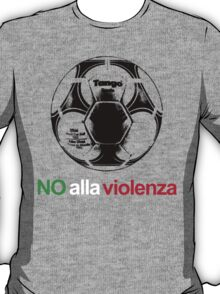 A Casual Classic iconic No Alla Violenza inspired t-shirt design T-Shirt
